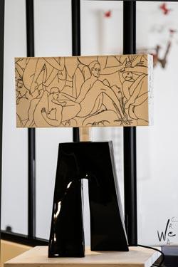 Lampe Ballade Le couple de Pierre Frey noire. Les artisans d'art.
