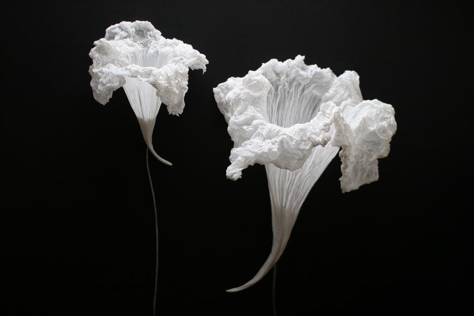Petite applique blanche Fleur aquatique . Les artisans d