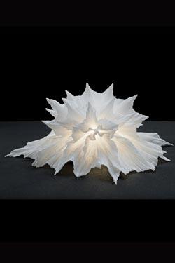 Petite lampe Coraline blanche. Les artisans d'art.