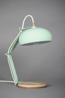 Lampe Rhoda TBS verte céladon petit modèle . Les nouveaux éditeurs.