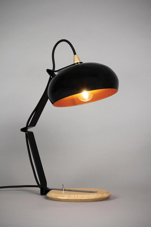 Rhoda Tbs Lampe A Poser Noire Petit Modele Lampe Rhoda De Lampari