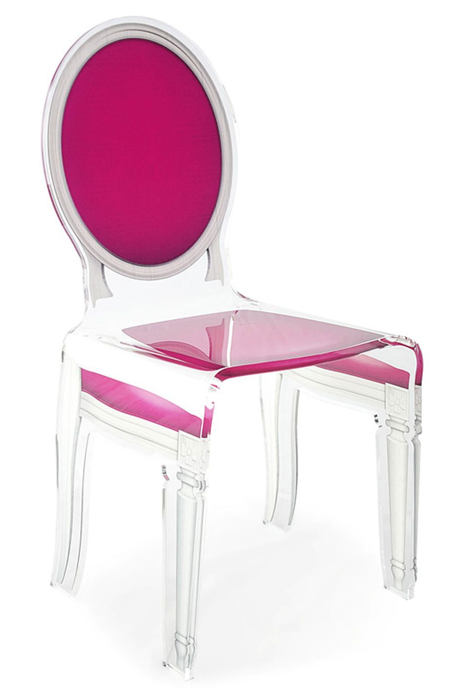 chaise baroque m daillon plexiglas sixteen rose fuchsia acrila sp cialiste du plexiglas r f. Black Bedroom Furniture Sets. Home Design Ideas