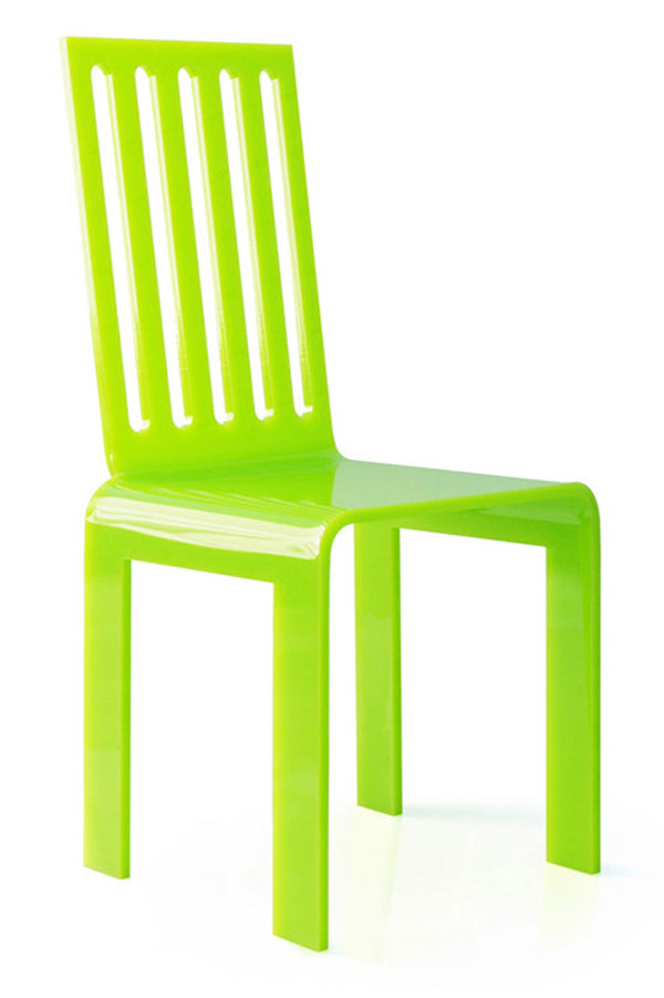 Chaise De Jardin Verte Plexiglas A Barreaux Acrila Specialiste Du