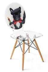 Chaise  en plexiglass transparente Graph Dog Wine. Acrila.