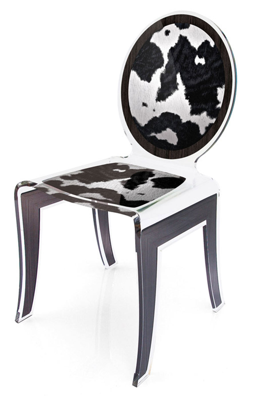 chaise m daillon wild motif peau de vache acrila sp cialiste du plexiglas r f 11030433. Black Bedroom Furniture Sets. Home Design Ideas