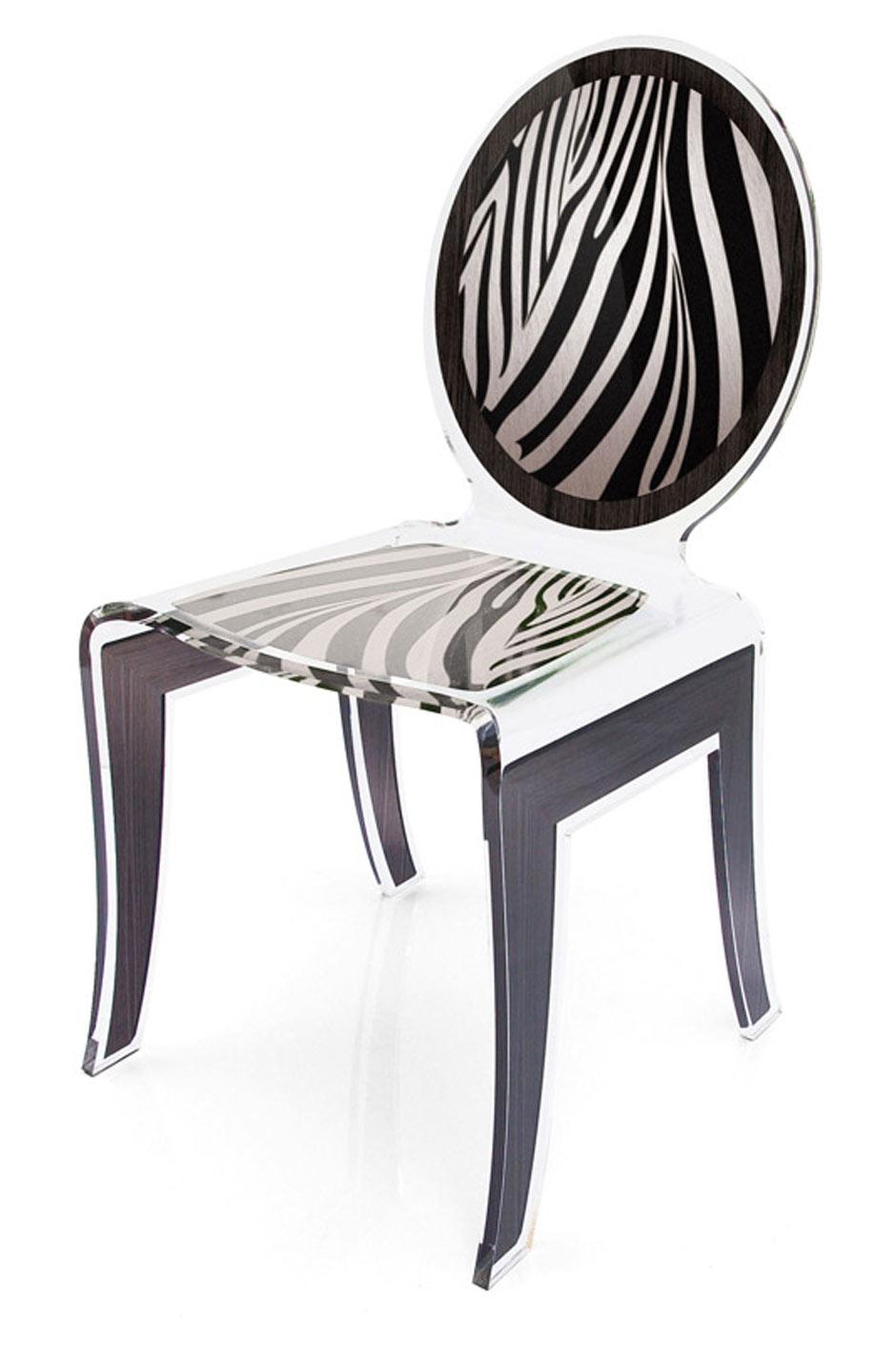 Chaise m daillon wild z bre en plexiglas transparent for Chaise en plexiglass