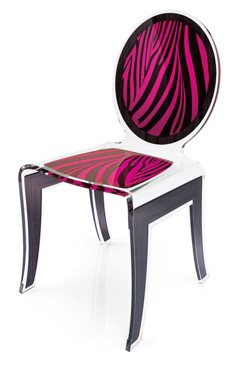 chaise m daillon wild z bre rose acrila sp cialiste du plexiglas r f 11030429. Black Bedroom Furniture Sets. Home Design Ideas