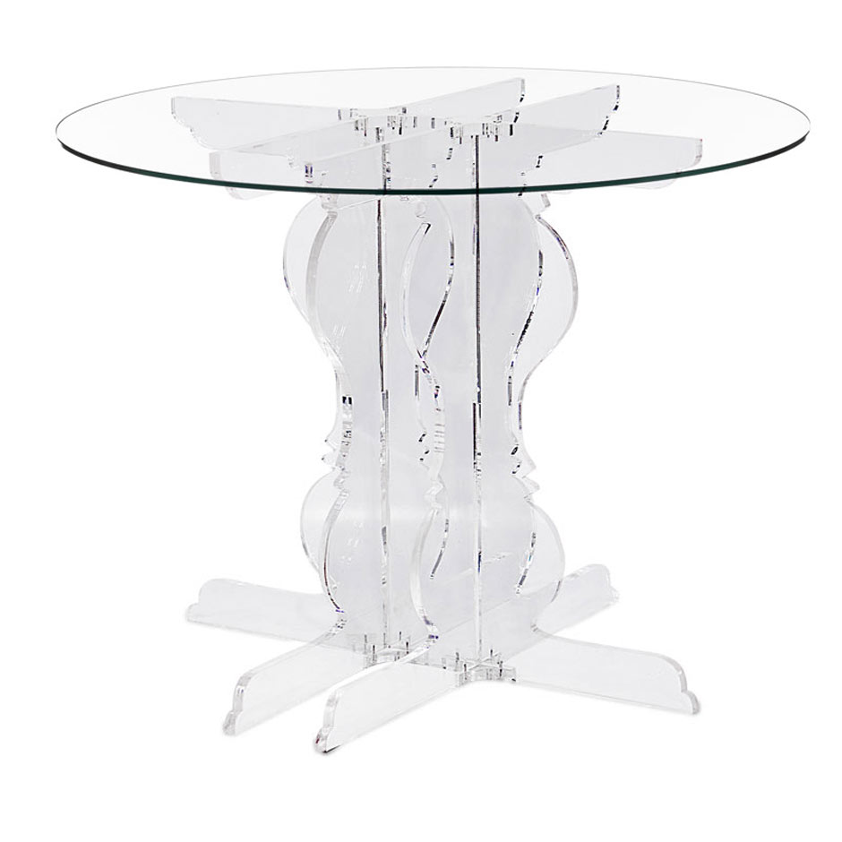 Table de salle manger blanche en altuglas acrila for Table salle manger transparente
