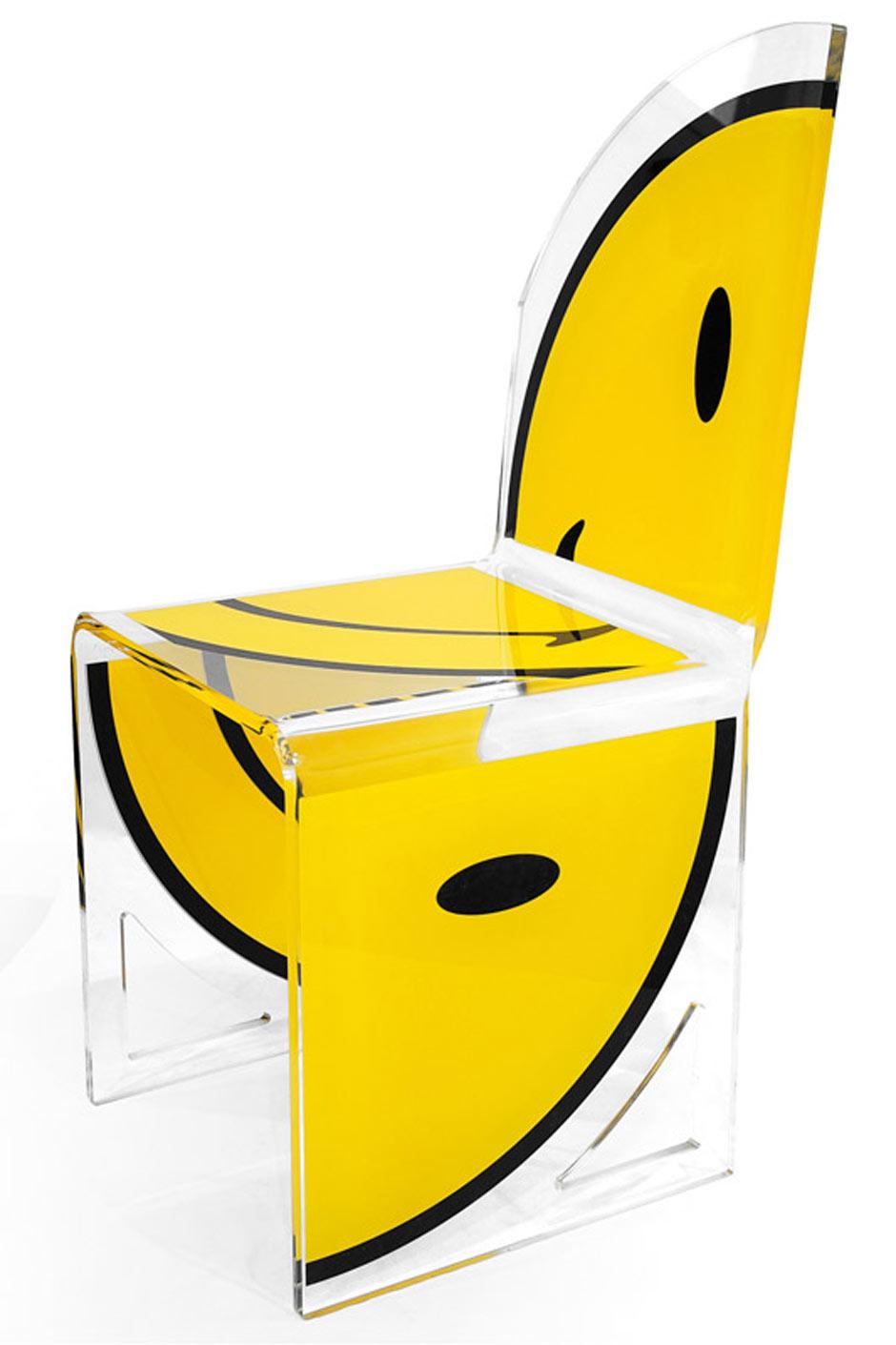 Demi Chaise Design Smiley Quarter Assise Droite Acrila