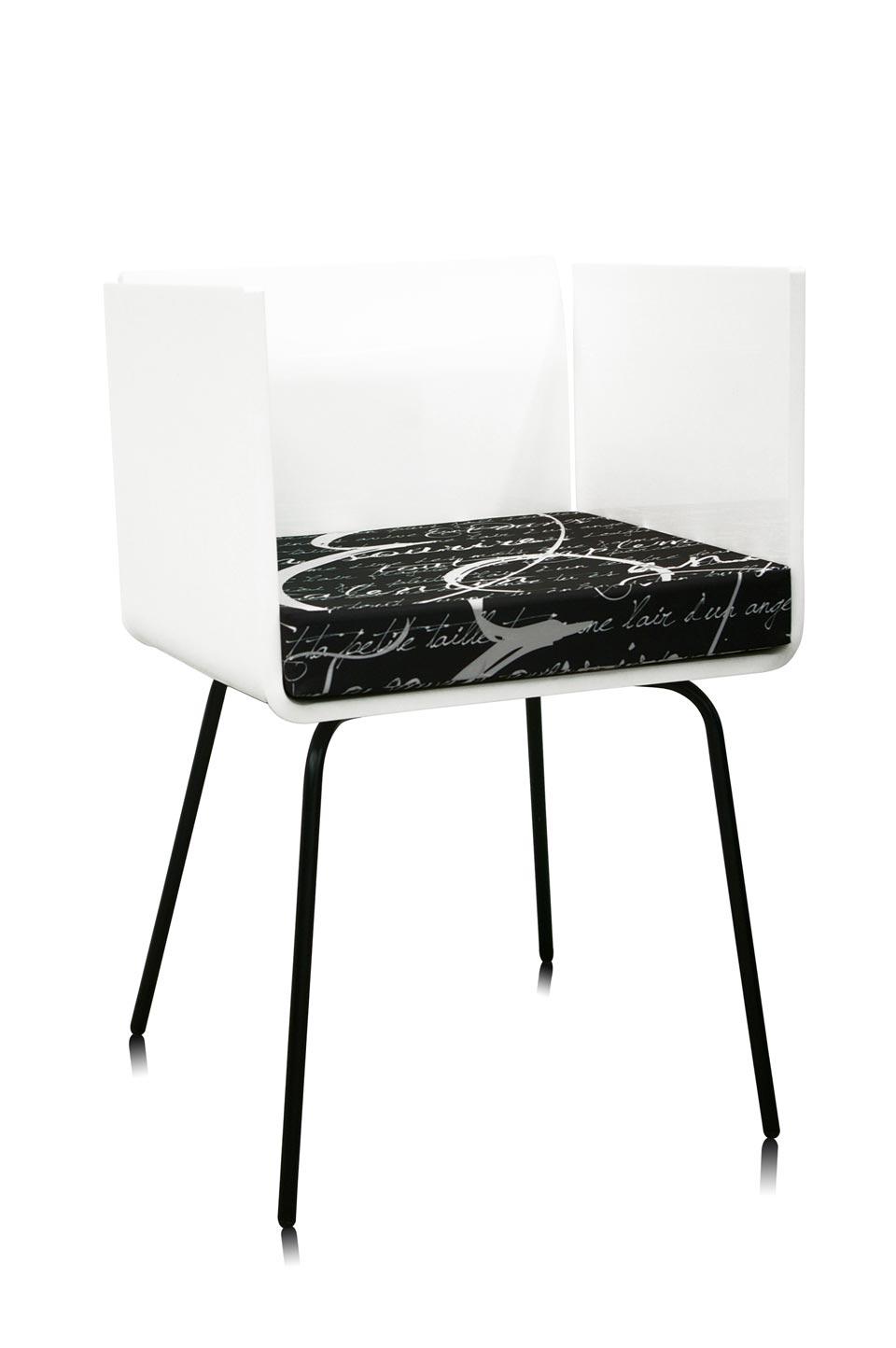 fauteuil cali blanc acrila sp cialiste du plexiglas r f 15090210. Black Bedroom Furniture Sets. Home Design Ideas