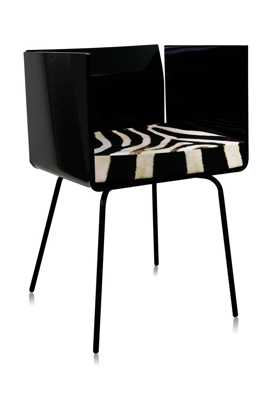 fauteuil cali noir acrila sp cialiste du plexiglas r f. Black Bedroom Furniture Sets. Home Design Ideas
