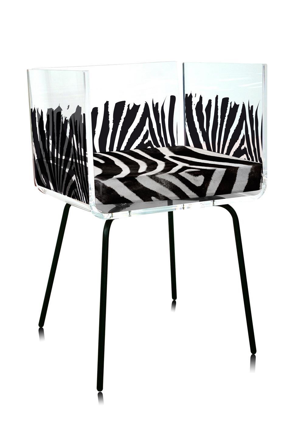 fauteuil cali zebre acrila sp cialiste du plexiglas r f 15090214. Black Bedroom Furniture Sets. Home Design Ideas