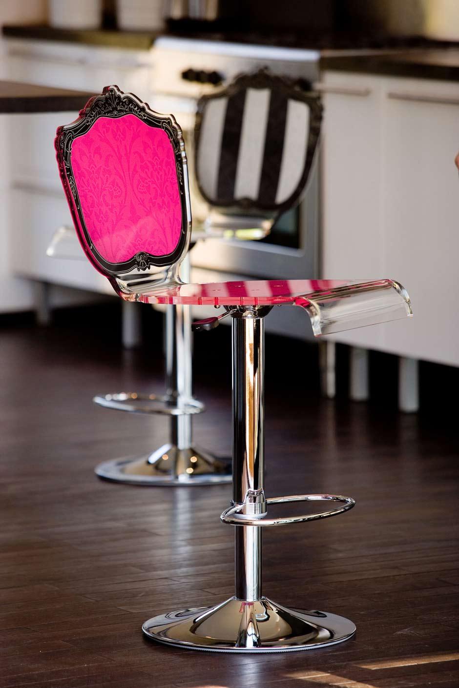 tabouret baroque plexiglas motif rose fuchsia acrila sp cialiste du plexiglas r f 11030366. Black Bedroom Furniture Sets. Home Design Ideas