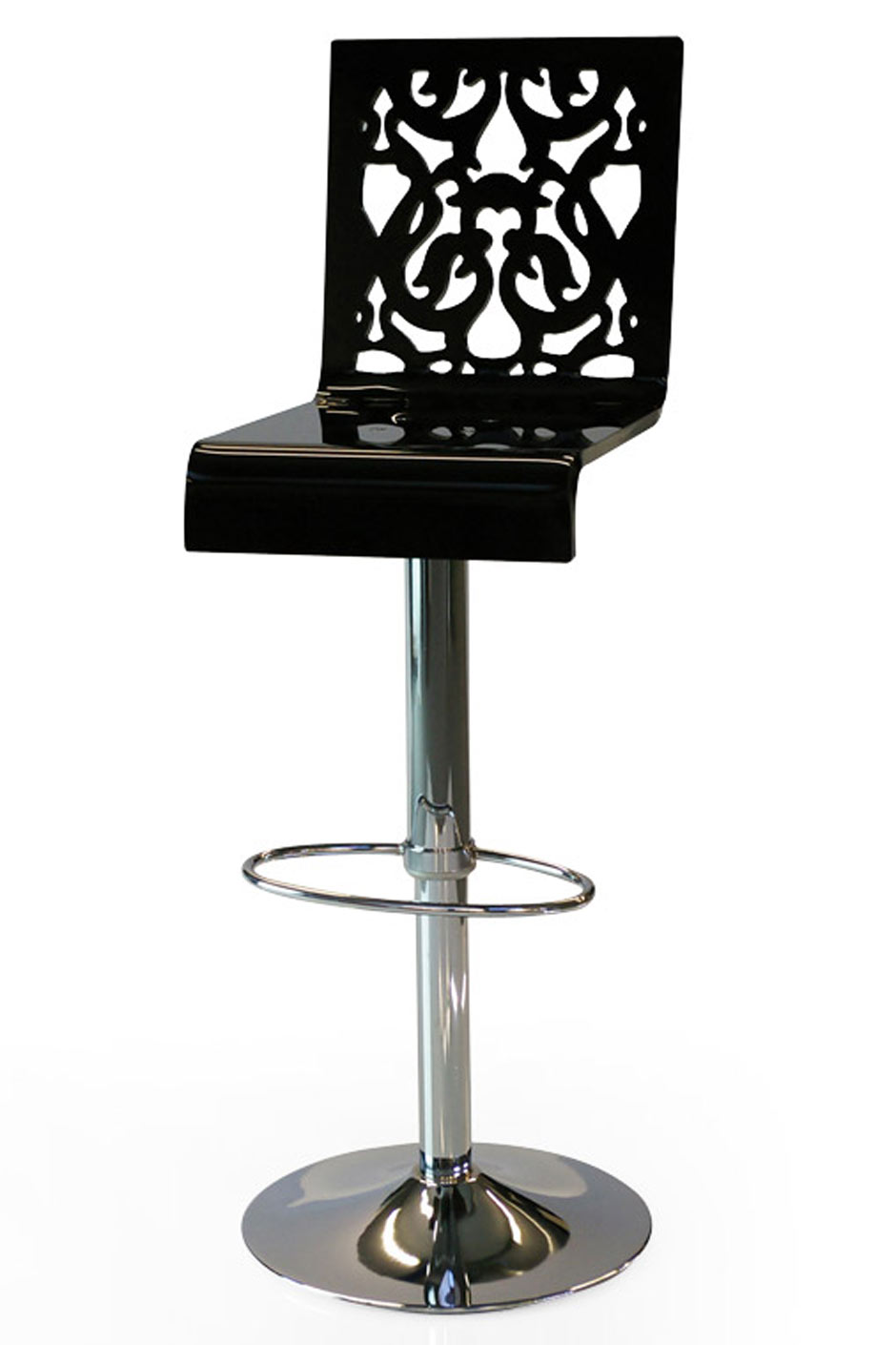 Tabouret haut grand soir dentelle noire acrila sp cialiste du plexiglas r f 11030404 - Tabouret de bar style baroque ...