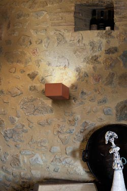 Applique en céramique brique Allegro . Aldo Bernardi.