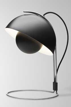 Flower Pot lampe de bureau noire. & Tradition.