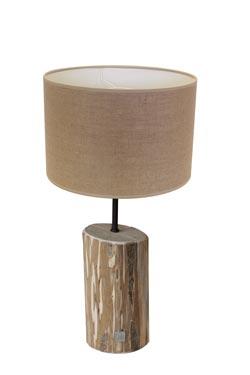 Lampe de table lin naturel Jo des bois. Angel des Montagnes.