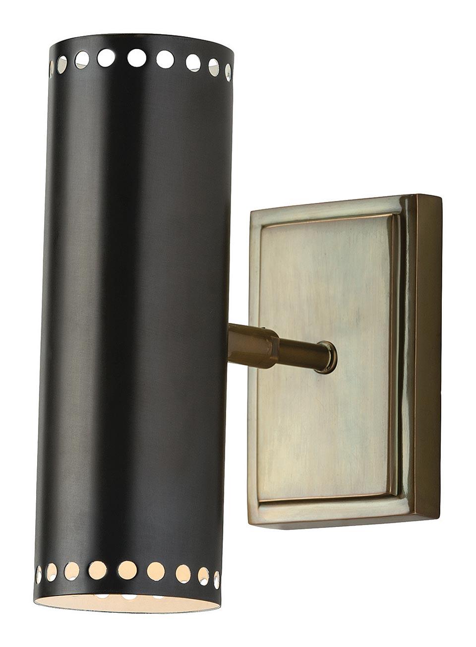 Applique noire et laiton antique Pruitt . Arteriors.
