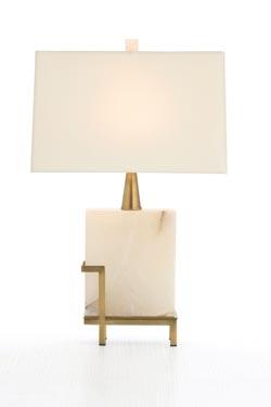 Herst lampe de table en marbre blanc . Arteriors.