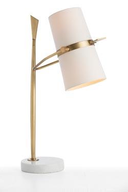 Lampe en laiton antique Yasmin. Arteriors.