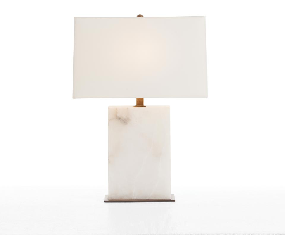 Lampe en marbre blanc Carson. Arteriors.
