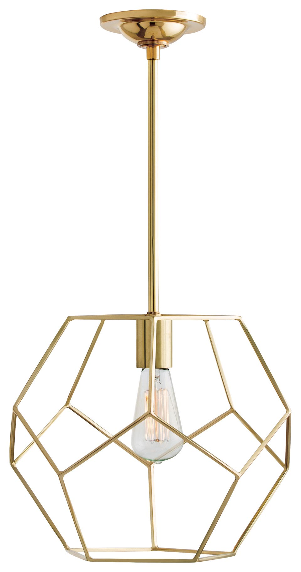 Brass Geometric Pendant Light