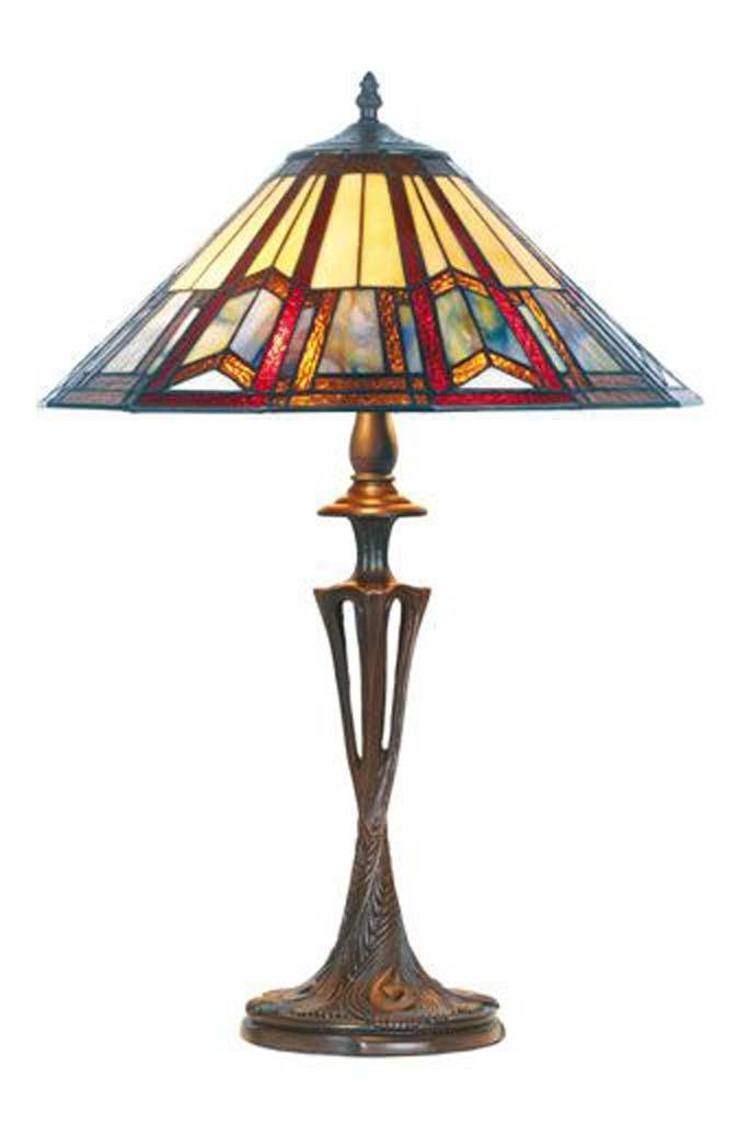 Lampe Style Bleue Par Artistar, Art Deco Lampe
