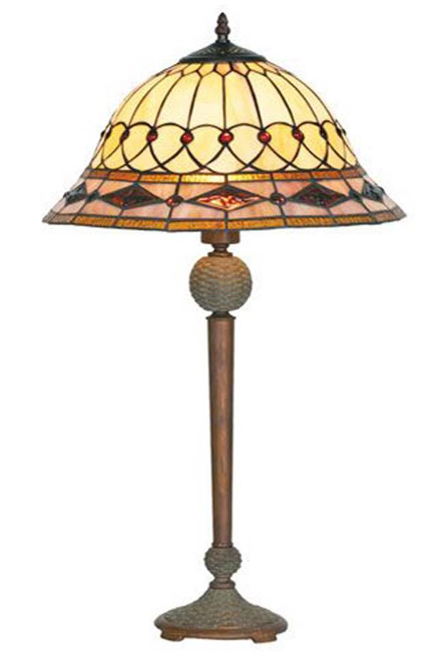 belle poque lampe style tiffany avec cabochons moyen mod le pied droit par artistar r f 11090441. Black Bedroom Furniture Sets. Home Design Ideas