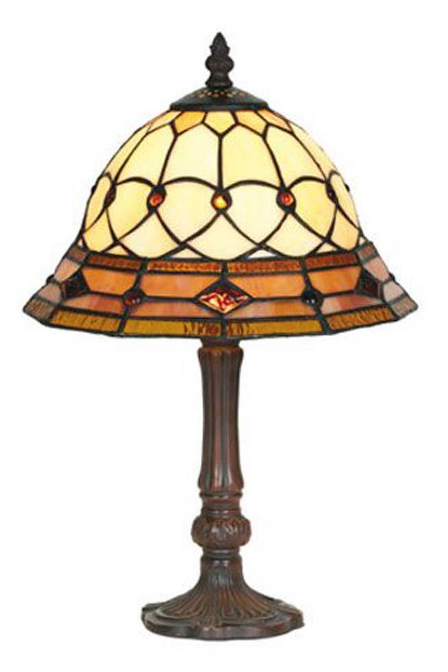 Belle époque lampe style Tiffany avec cabochons petit modèle . Artistar.