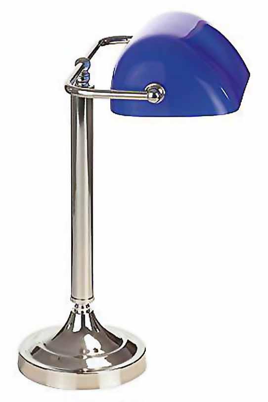 Biblio nickel bleu lampe de bureau par artistar r f - Lampe de bureau bleu ...