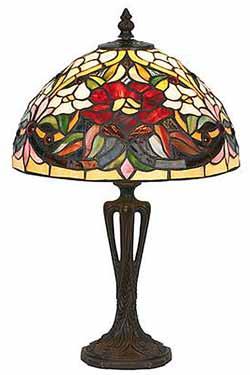 Coquelicot Lampe style Tiffany 40cm. Artistar.