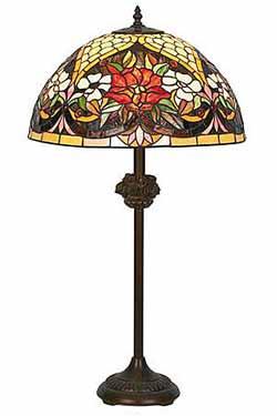 Coquelicot Lampe style Tiffany 75cm. Artistar.