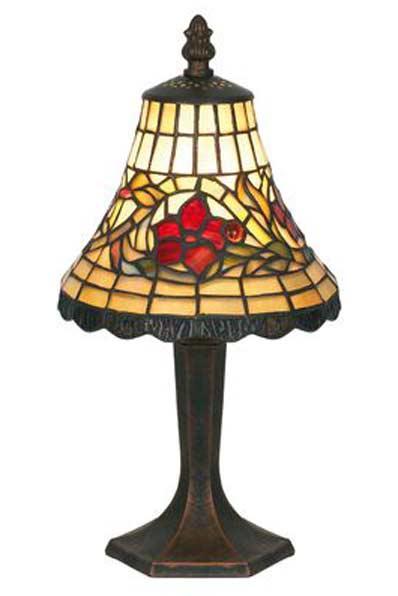 Fleur lampe en verre style Tiffany. Artistar.