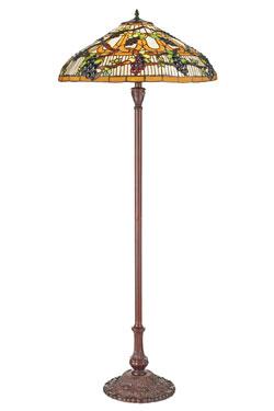 Grand lampadaire Tiffany Vignes d'automne. Artistar.
