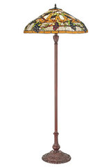 Grand lampadaire Tiffany Vignes d