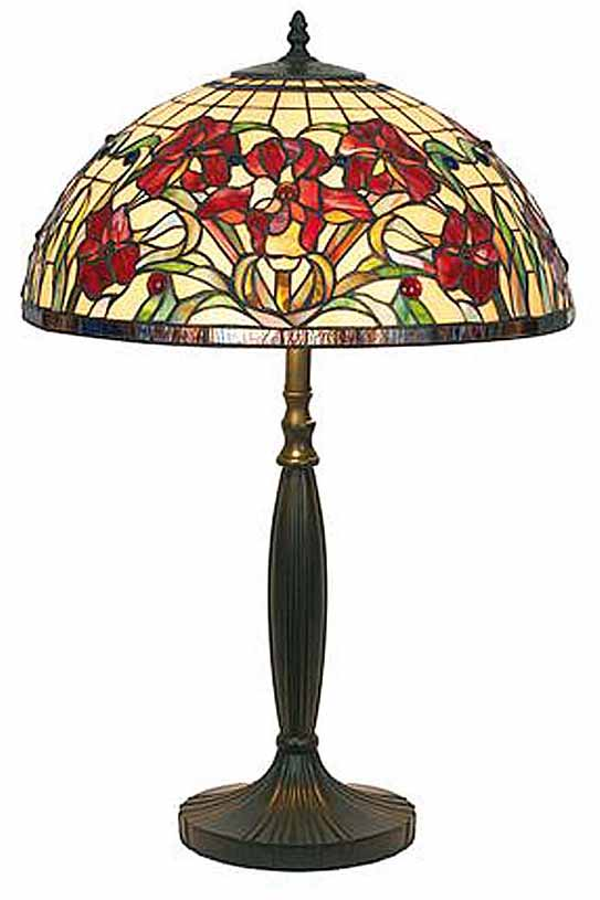 iris rouge grande lampe style tiffany par artistar r f 09100045. Black Bedroom Furniture Sets. Home Design Ideas