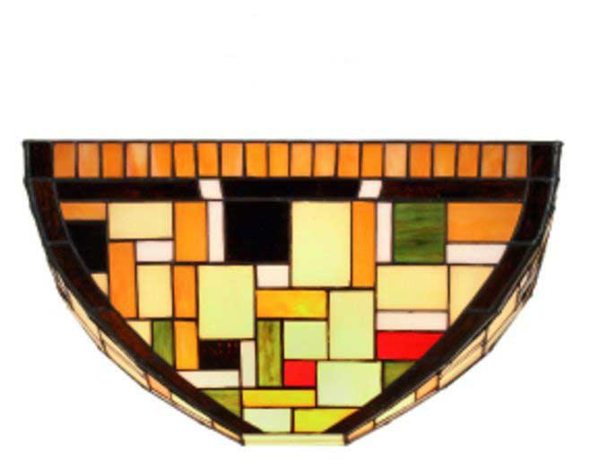Klimt applique en verre style Tiffany. Artistar.