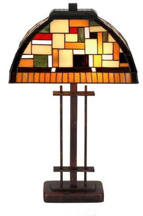 Klimt lampe en verre en style Tiffany. Artistar.