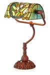 Lampe de bureau bibliothèque Tiffany thème végétal. Artistar.