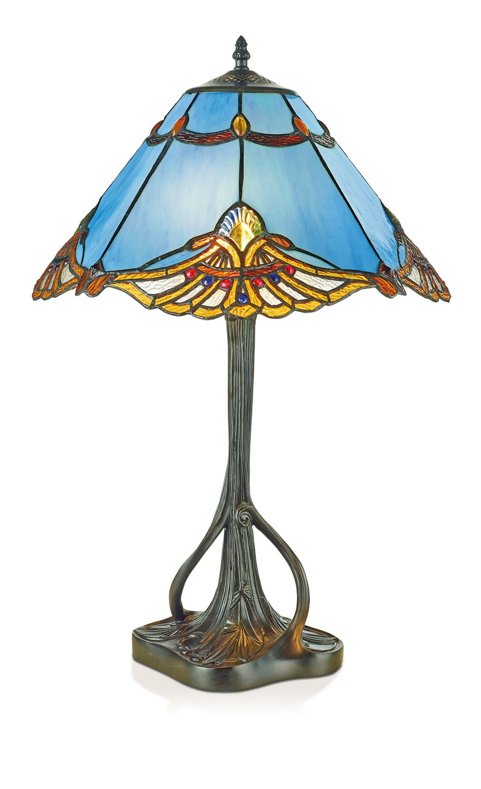 Lampe de table Tiffany tronc mêlé. Artistar.