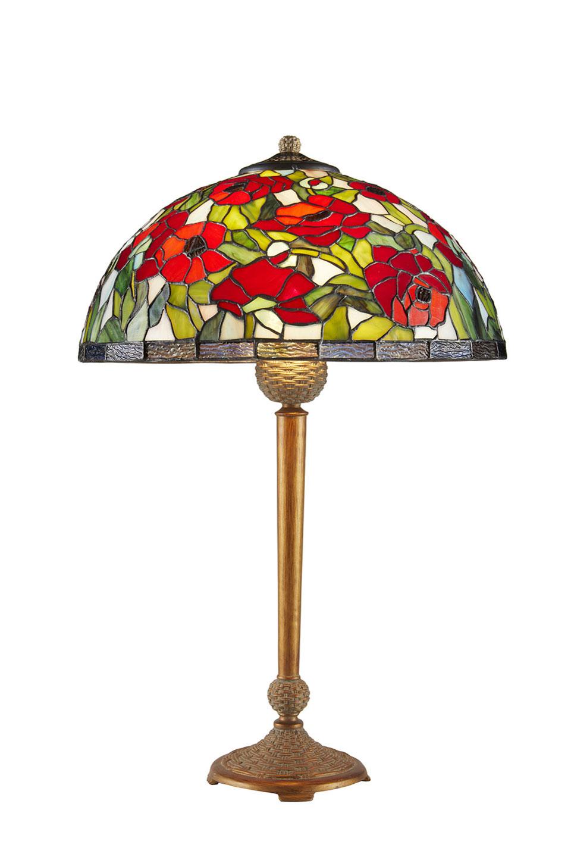 Lampe Tiffany petit coquelicots. Artistar.