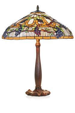 Lampe Tiffany thème de la vigne. Artistar.