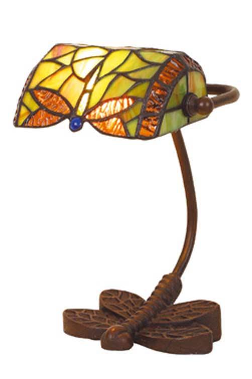 Libel lampe de bureau en verre style Tiffany. Artistar.