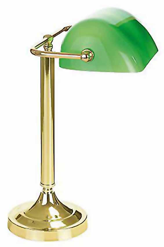 Biblio laiton verte 1 lampe de bureau par artistar r f - Lampe de bureau verte ...