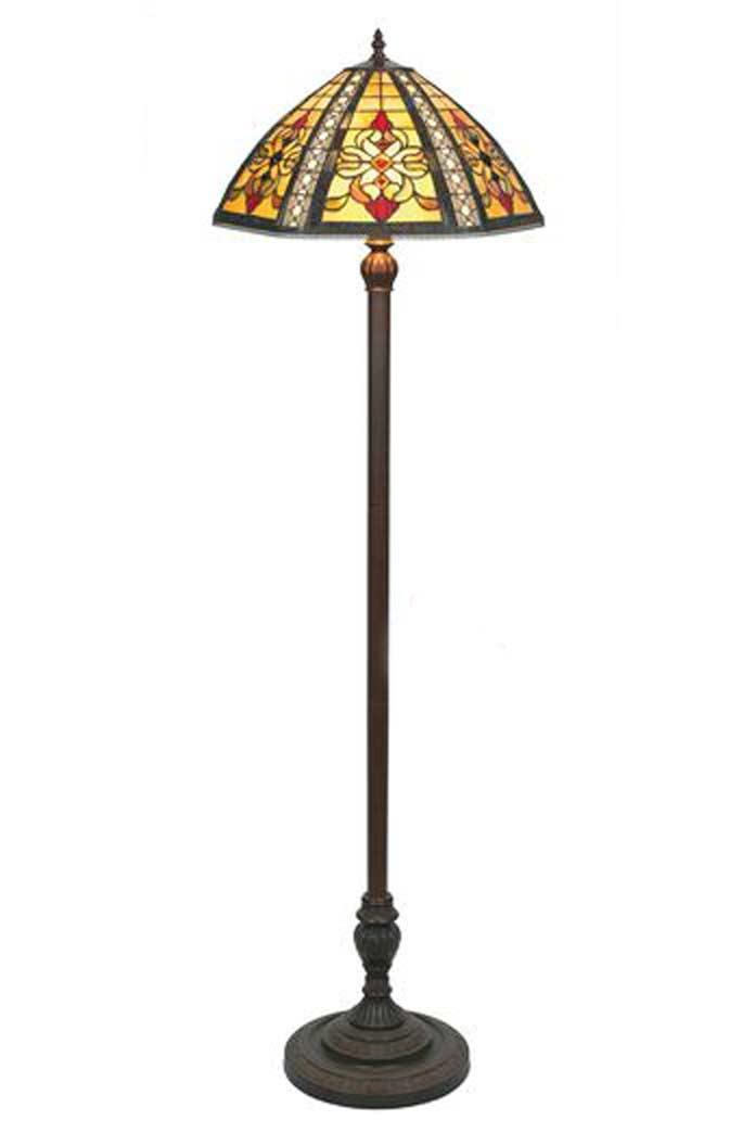 rétro 1920 lampadaire style tiffany jaune et noire par artistar