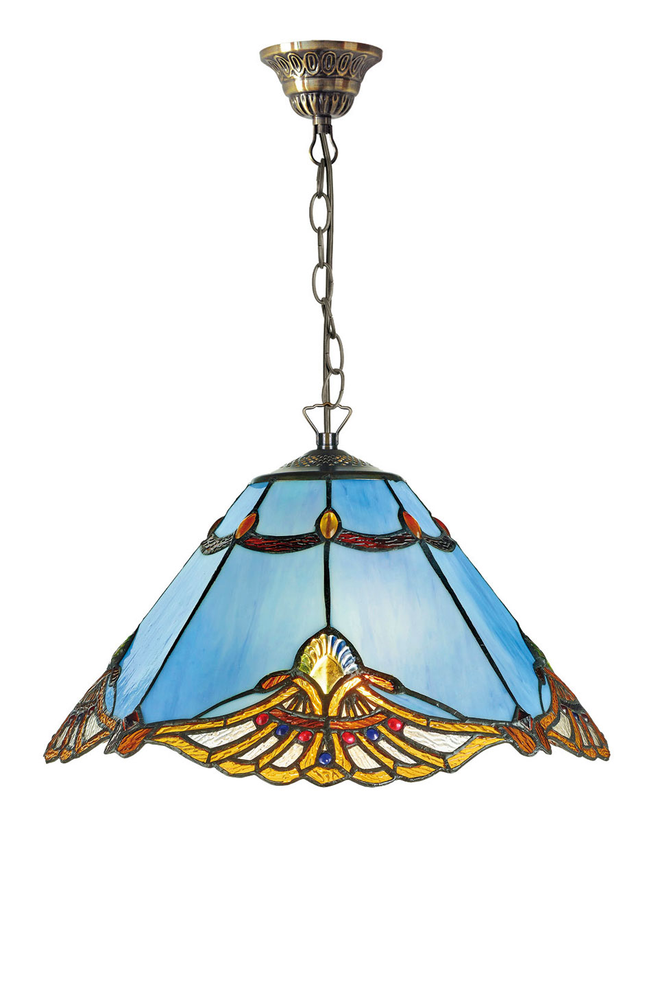 Suspension Tiffany bleue. Artistar.