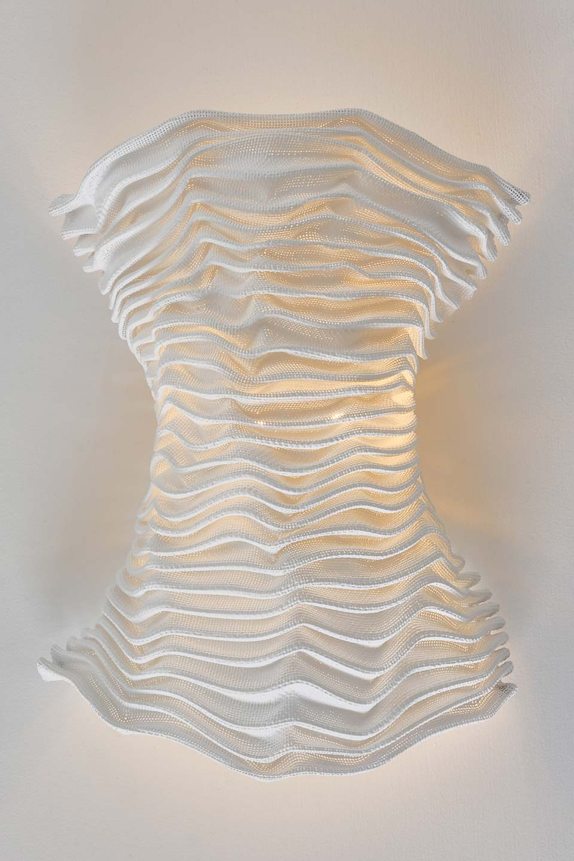 Applique blanche tissu plissé siliconé Cors. Arturo Alvarez.