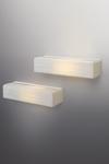 Applique en verre opaque petit modèle blanc Norman. Arturo Alvarez.