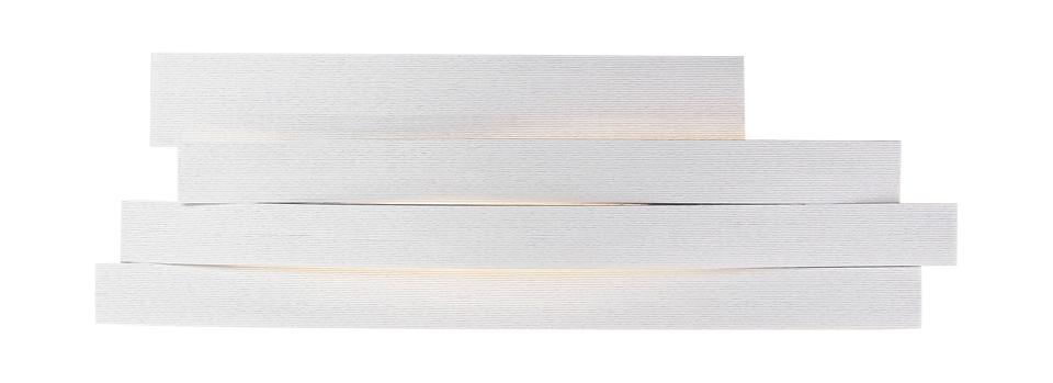 Applique longue Li en cellulose pressée blanc. Arturo Alvarez.