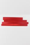 Applique rouge longue en cellulose pressée . Arturo Alvarez.